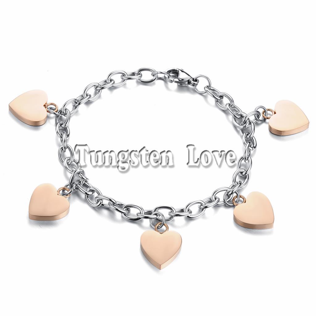 New Design Silver Women Bracelet Fashion Gold Heart Charm Bracelets For  Women Elastic Charm Jewelry Pulseira Ouro Bijoux Femme