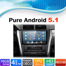 Pure Android 5.1.1 System Car Radio Auto Radio Autoradio Car dvd media stereo for Toyota Camry 2015