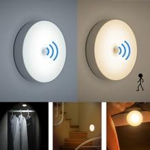 Ночник с ИК датчиком движения, 6 светодиодов, Автоматическое включение/выключение, для спальни, лестницы, шкафа, гардероба, беспроводной, USB, перезаряжаемый, настенный светильник
