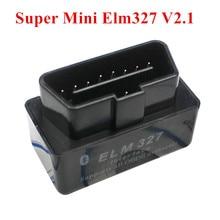 2016 Free Shipping Super Mini ELM327 Bluetooth Interface V2.1 OBD2 II Auto Diagnostic Tool ELM 327 Work ON Android Torque/PC(China (Mainland))