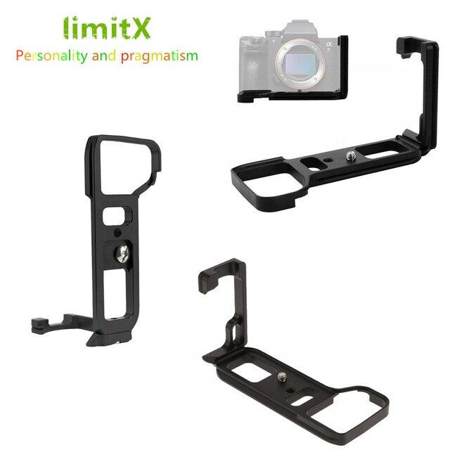 Quick Release L Plate Bracket Holder Hand Grip for Sony Alpha A9 / A7 III / A7R III A7M3 A7RM3 Camera for Arca Swiss Tripod Head
