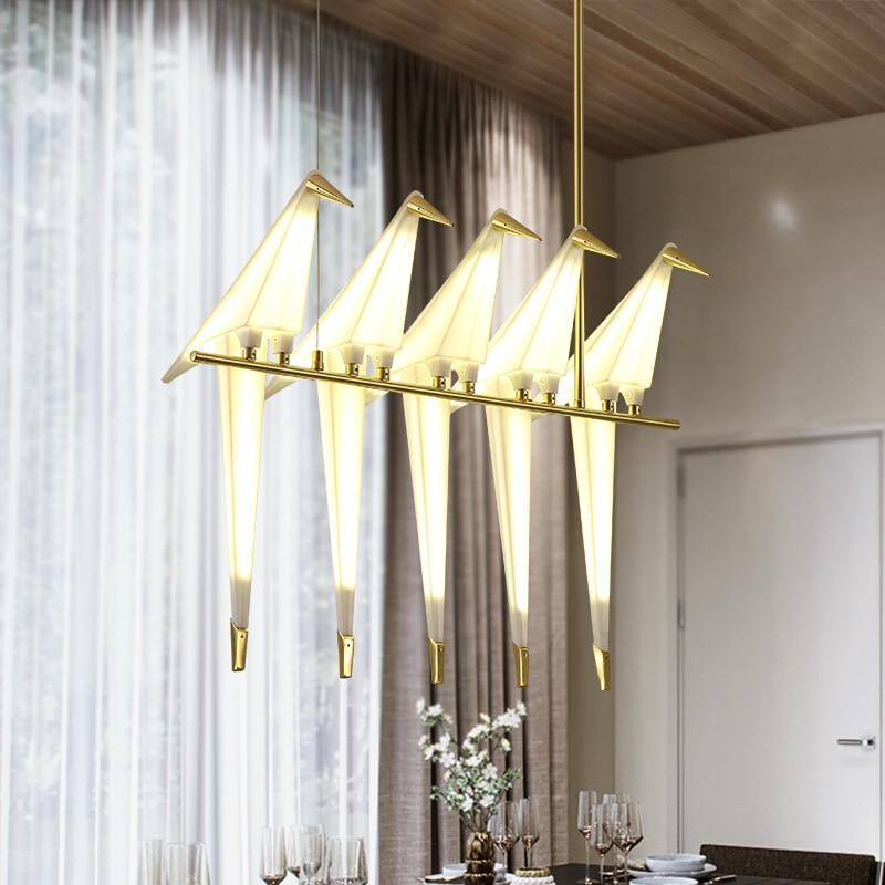 2018 современный светодио дный птица подвесные светильники для Гостиная lamparas де techo Indoor лампа светильник светильников подвесные люстры