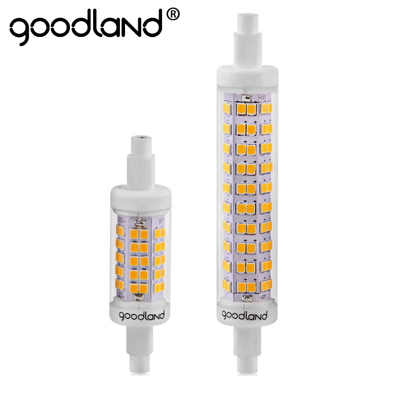 Goodland R7S LED Lamp 78mm 118mm 5W 10W LED R7S LED Bulb Light AC 110V 220V SMD 2835 360 Degree Replace Halogen Lamp Floodlight r7s led lamp 78mm 118mm 5w 10w led r7s light corn bulb smd2835 led flood light 85 265v replace halogen floodlight page 7
