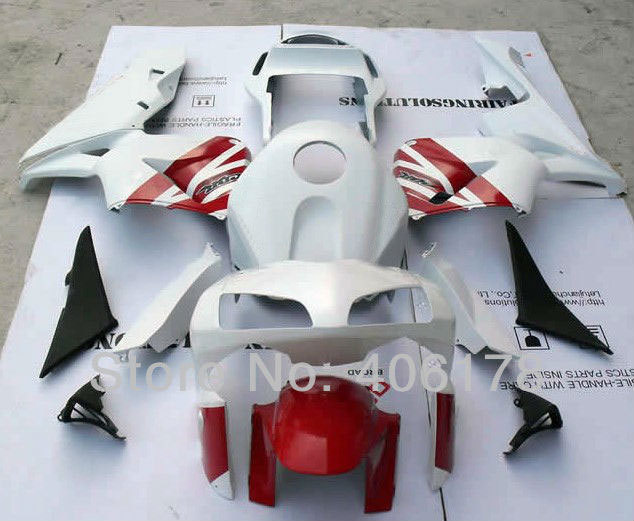Hot Sales,Motobike 03 04 cbr 600rr Fairing For Honda CBR600RR 2003-2004 F5 Motorcycle White and Red Fairings (Injection molding) unpainted tail fairing kit rear for honda cbr600rr cbr 600 rr 2003 2004 cbr600 cbr 600rr 03 04 motorcycle frame injection mold