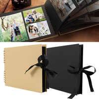 80 Pages Albums Photo Scrapbook papier bricolage Craft Album Scrapbooking Album Photo pour mariage anniversaire cadeaux livres mémoire