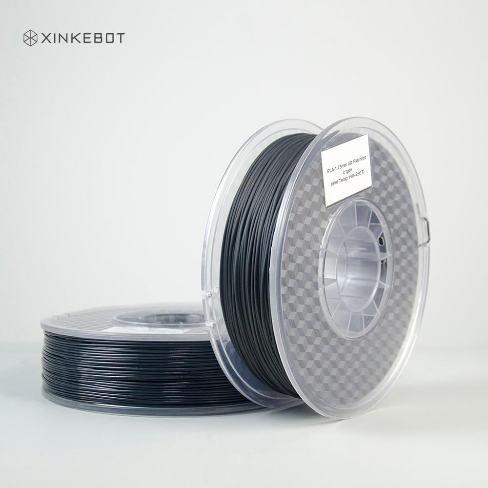 Xinkebot XK-PLA Pro Carbon Fibre 3D Printer Filament 1.75mm Accuracy +/- 0.05mm 1kg Spool Black new design carbon fiber pla 3d printer filament pla filamento 1 75 3d filament 0 8kg 3d printer extruder 1 75 pla filament