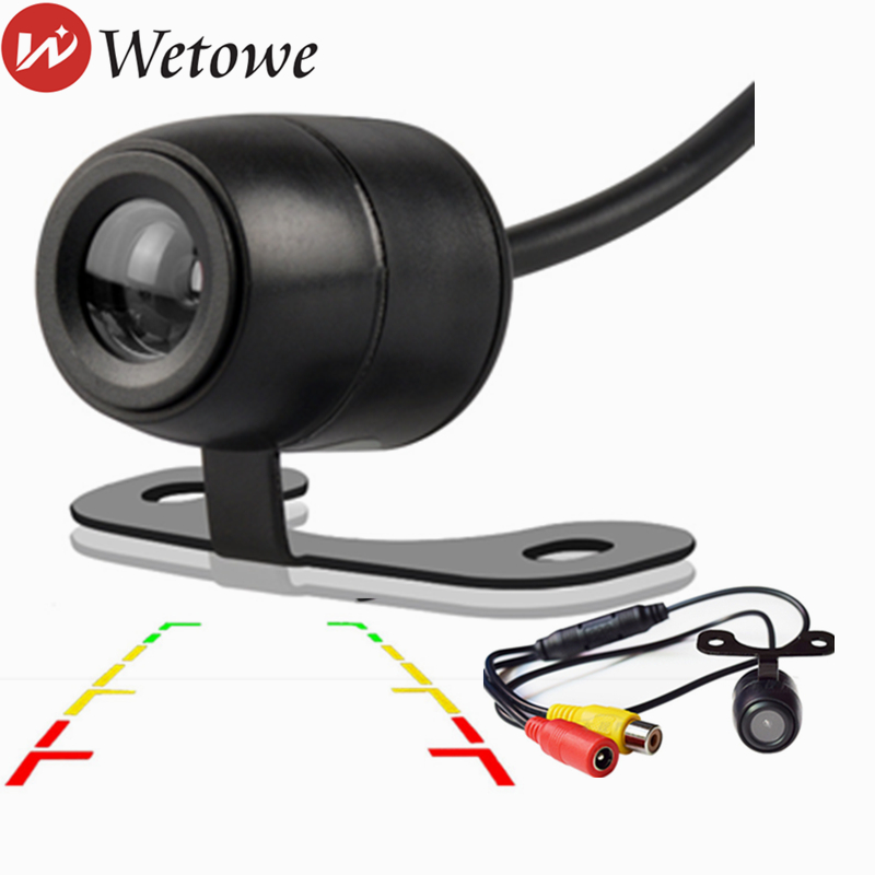 WETOWE  H1 Universal Car Rear View Parking Camera HD Waterproof Reverse Camera  Auto Parking Monitor CCD Waterproof 170 Degree G