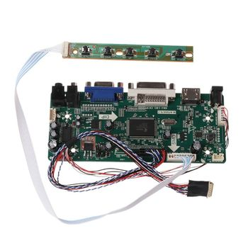 Controller Board LCD HDMI DVI VGA Audio PC Module Driver DIY Kit 15.6 Display B156XW02 1366X768 1ch 6/8-bit 40 Pin Panel hdmi vga dvi audio lcd controller board 19inch m190cge l20 1440x900 lcd panel m190pw01 v8