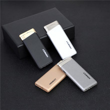 Ultra-thin Metal Electronic Lighter Turbo gas Matte Butane Cigar Cigarette Lighters smoking accessories