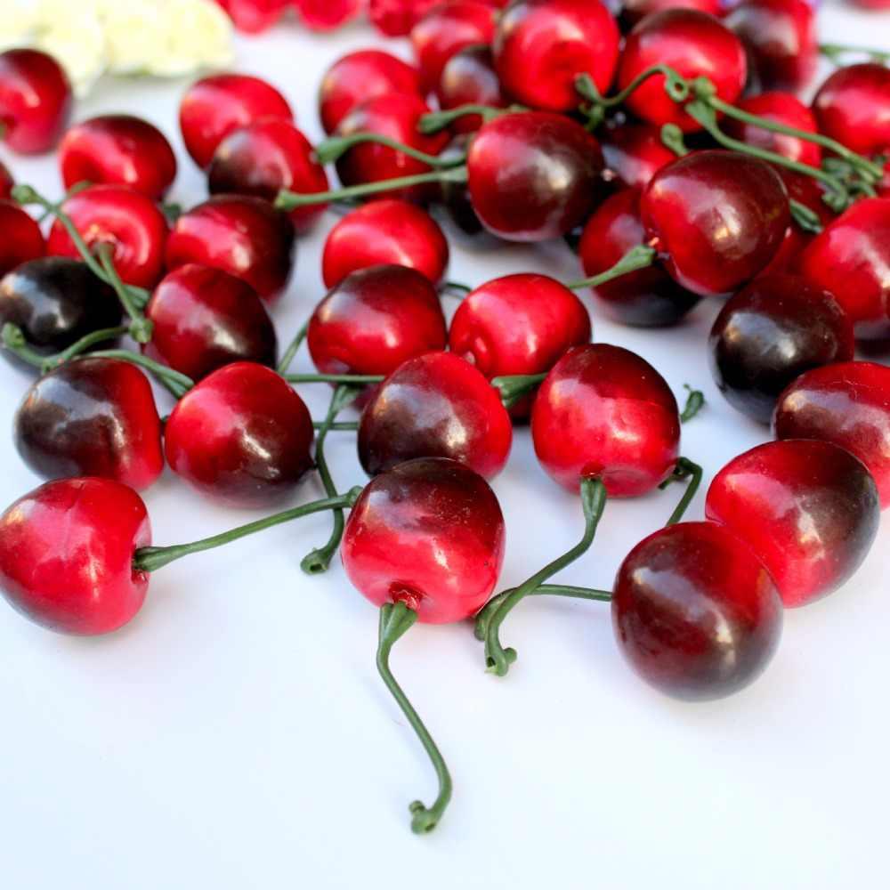 20 шт. мини-Моделирование маленькая вишневая пена пластиковые поддельные искусственные фрукты модель вечерние кухонные Свадебные украшения рождественской елки