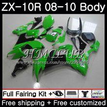 Кузов для KAWASAKI NINJA светло-зеленый ZX10R ZX1000C 2008 2009 2010 63HC. 16 ZX 10R ZX 10 R ZX1000 ZX-10R 08 09 10 обтекатель комплект