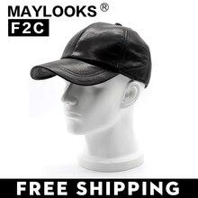 2018 Top moda Maylooks nuevo cuero genuino hombre sombrero gorra de béisbol  de alta calidad de 83e0abff2c2