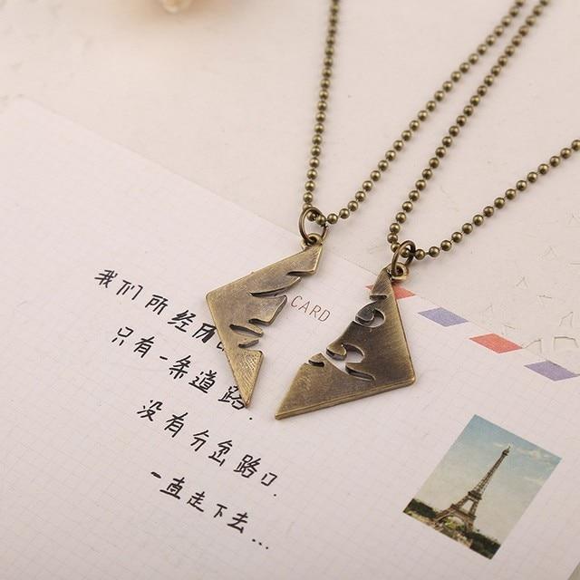 Two Pcs Mortal Instruments City Of Bones Best Friends Necklace