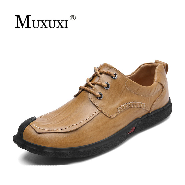 Men Fashion Anti-slip Handcrafted Leather Casual Shoes cheap sale from china deals cheap price outlet purchase 6NYKJJA