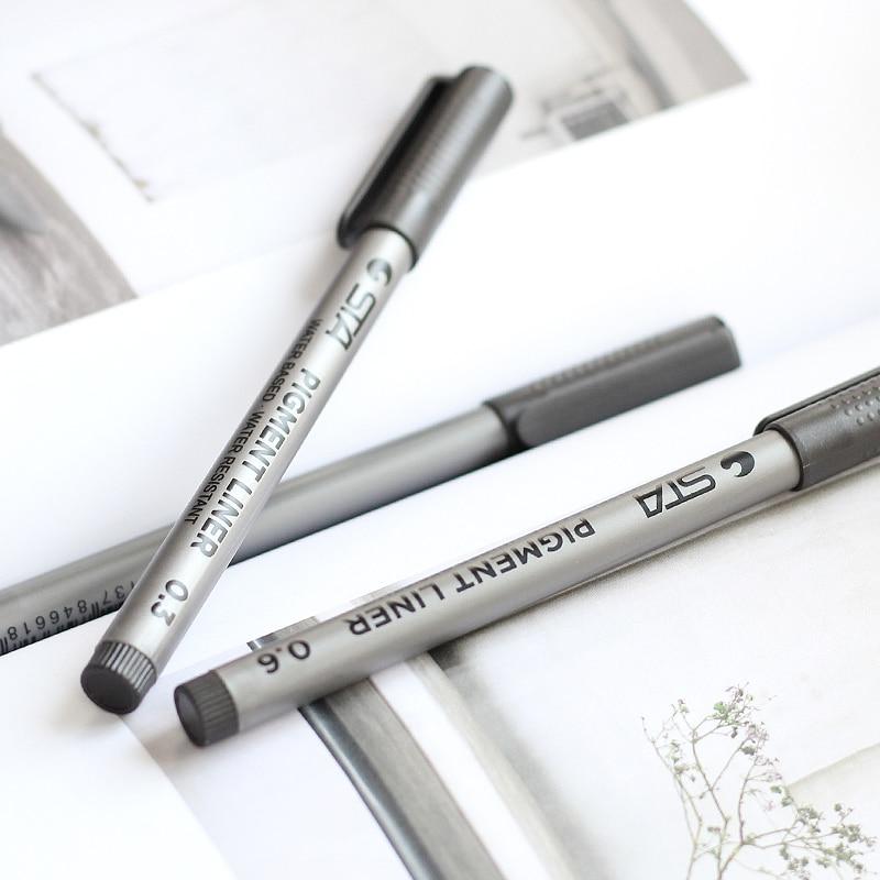 6 հատ / Lot Միկրո գծի նշման գրիչ մանգայի - Գրիչներ, մատիտներ և գրելու գործիքներ - Լուսանկար 2