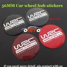DIY modificado 4 PÇS/LOTE 56 MM cubo de Roda de Carro Roda de Adesivos De Carro tampas para WRC logotipo do emblema do emblema fit Todas As séries Do Carro acessórios