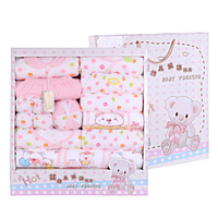 100 Cotton 17pcs Set New Born Baby Girl Boy Clothing Set Clothes Lovely Cartoon Spring Summer