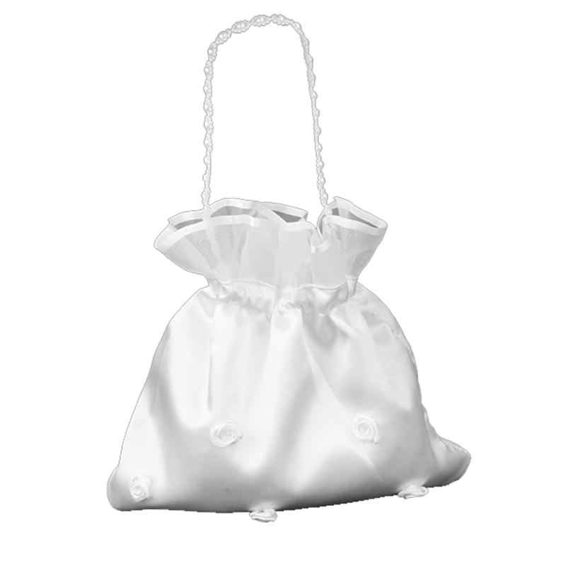 White lace and satin dolly bag for bride// bridesmaid// communion