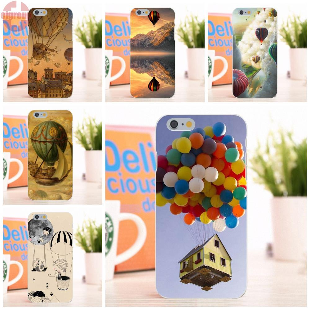 EJGROUP For Apple iPhone 6 6S 4.7 inch Soft TPU Silicon Mobile Phone Case Cover Air Balloon In The Sky Live House