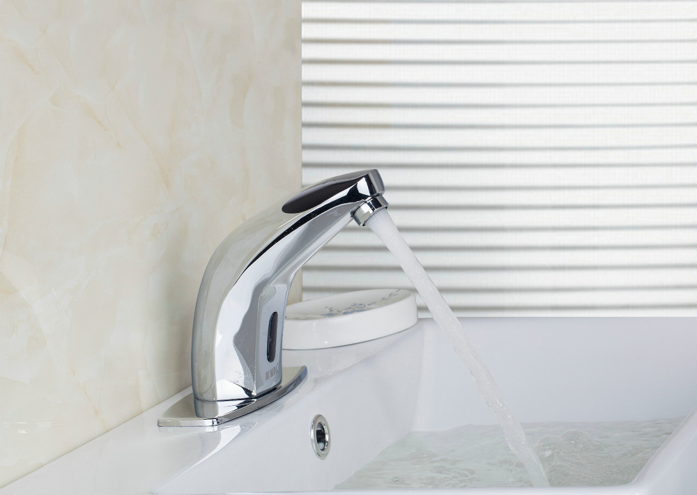 Touchless Electronic Faucet Dc6v Ac110 220v Power Automatic Tap Sensor Faucets Cold Hot Water