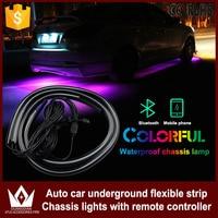 Cheetah 4PCS Car Rgb App Control Strip LED Car Underbody Neon Auto Light With Flow Flash