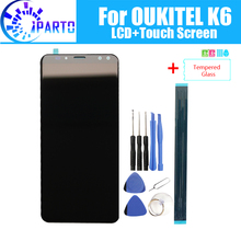 5.99 polegada oukitel k6 display lcd + de tela toque 100% original testado lcd digitador vidro substituição do painel para oukitel k6