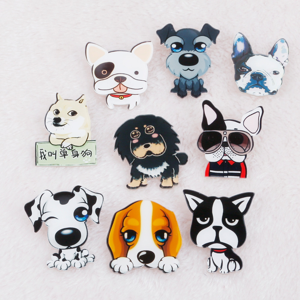 Arts,crafts & Sewing 1 Pc Dogs Pin Icon Cartoon Acrylic Badges Decoration Badges On Backpack Icons