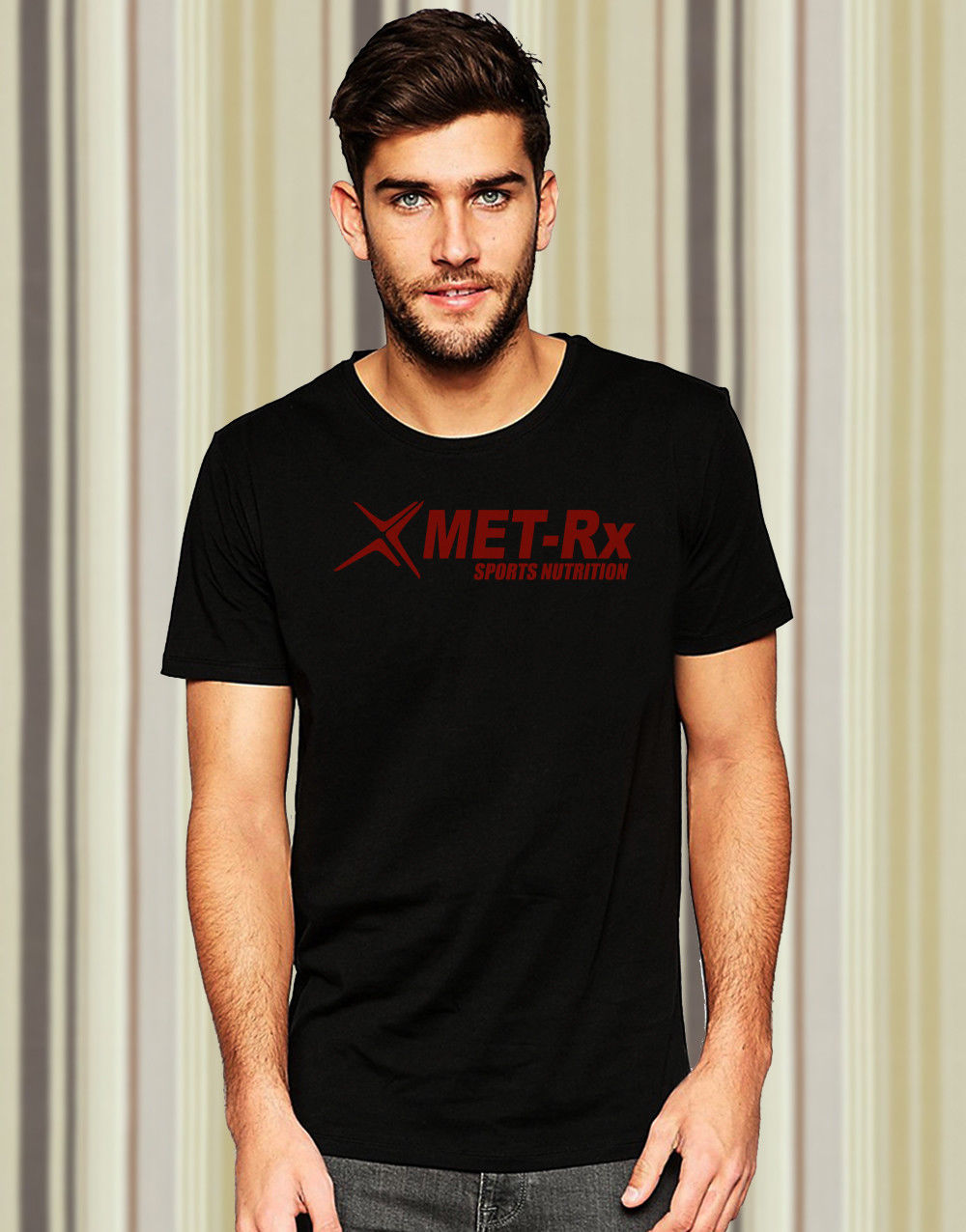 New Mett Rx Sports Nutrition Custom Tee Shirt Casual Short Sleeve
