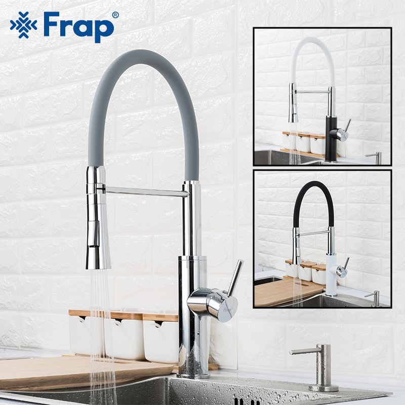 FRAP kitchen faucet 2 function spout kitchen mixer faucet pull out water taps cold and hot