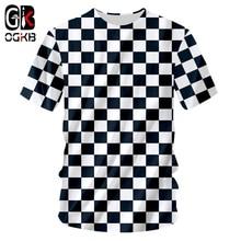 OGKB verano hombres Tops camiseta fresca impresión negro blanco red 3D  Camiseta Hombre Hiphop manga corta O cuello camisas Drops. 219c7dbf63d