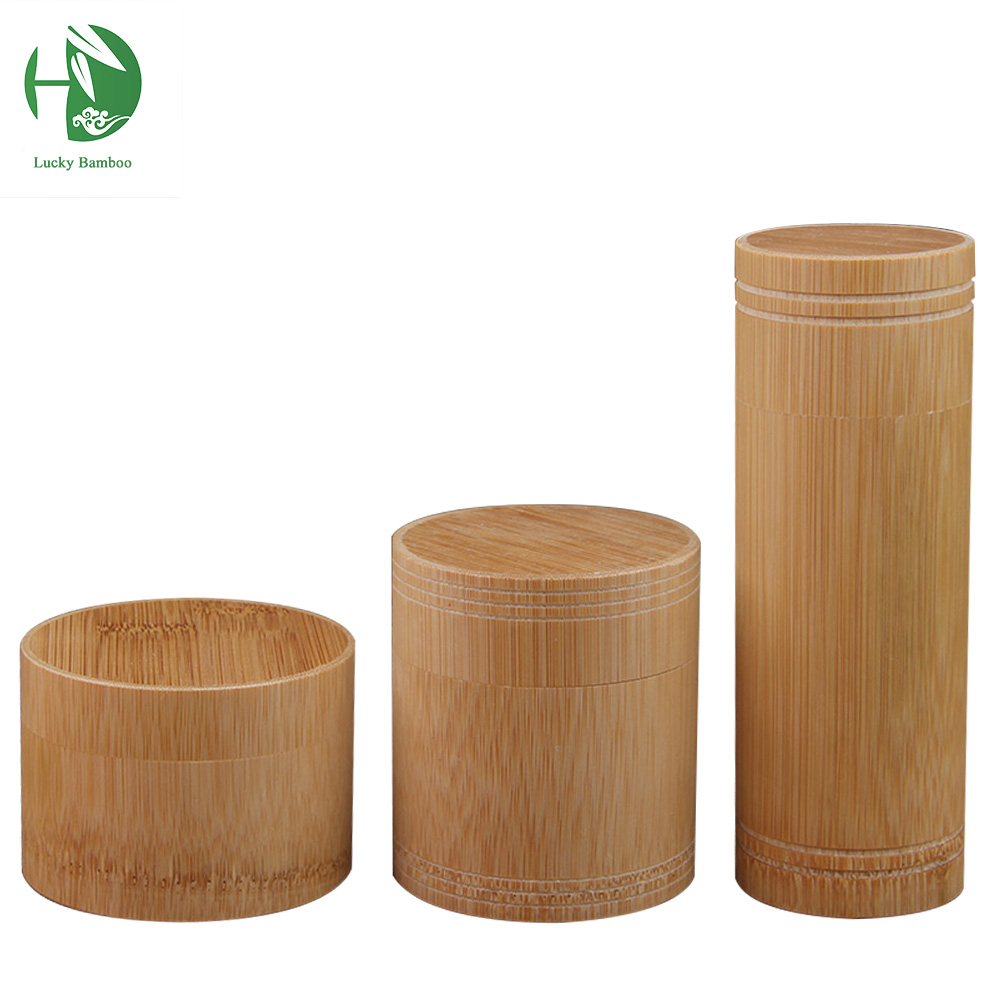 Natural Bamboo Tea Box Tea Canister Kitchen Storage Jars Column Fahion  Bottles Chests Cultural Spice Box Storage Box Tea Caddy In Storage Bottles  U0026 Jars ...