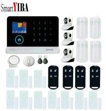 SmartYIBA APP Control Alarm Systems Security Home WIFI Camera Smoke Alarm PIR Sensor Door Gap Alarm Kits
