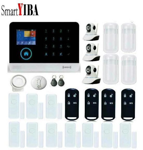 SmartYIBA APP Control font b Alarm b font Systems Security Home WIFI Camera Smoke font b