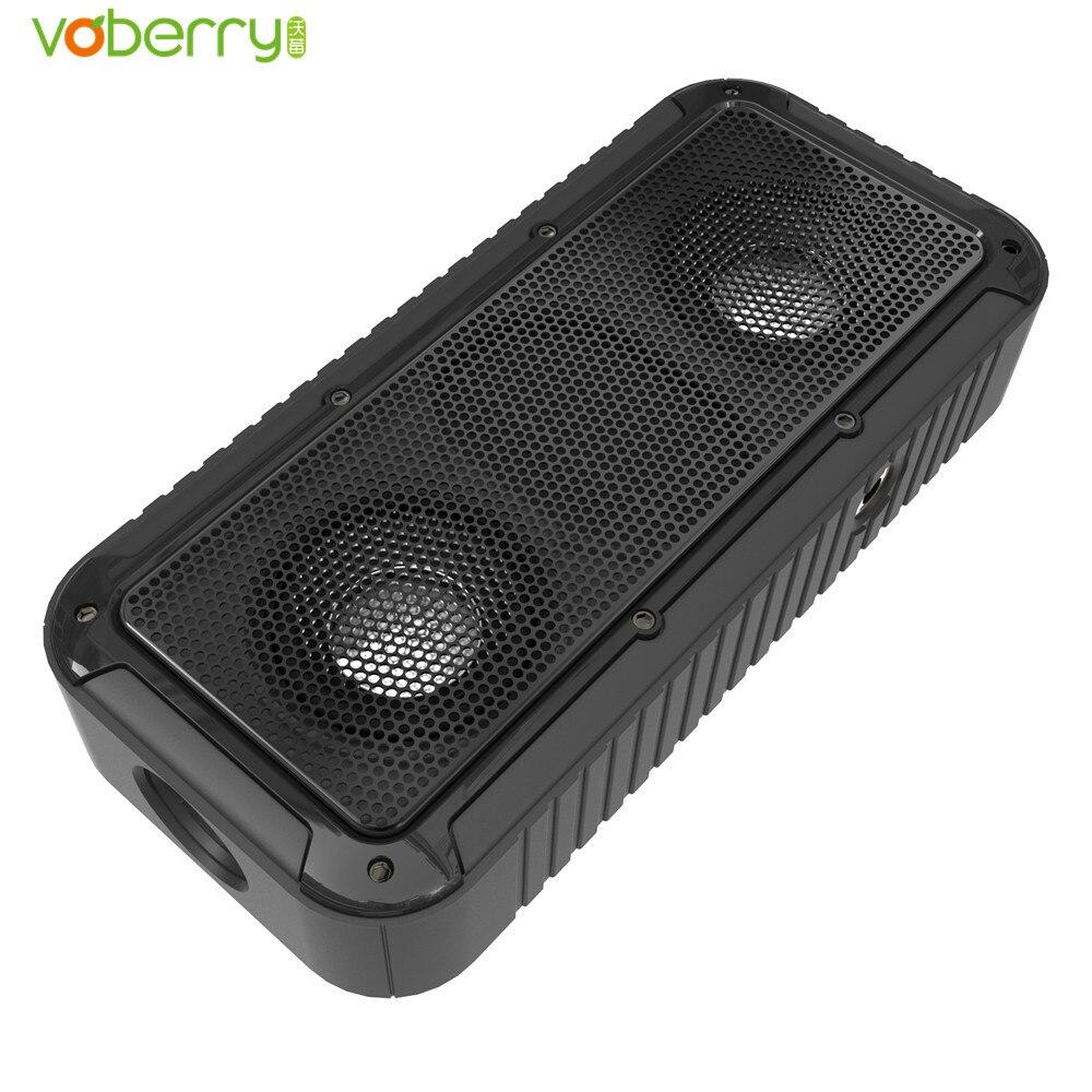 VOBERRY Outdoor Portable Waterproof Shockproof Wireless Bluetooth Speaker Bicycle Bracket Speakers LED Flashlight FunctionVOBERR