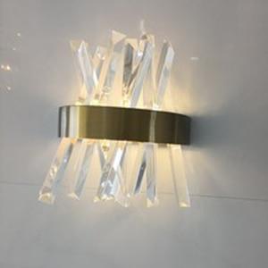 Image 4 - luxury design crystal wall lamp modern LED wall lights Dia25*H33cm lustre living room bedroom light