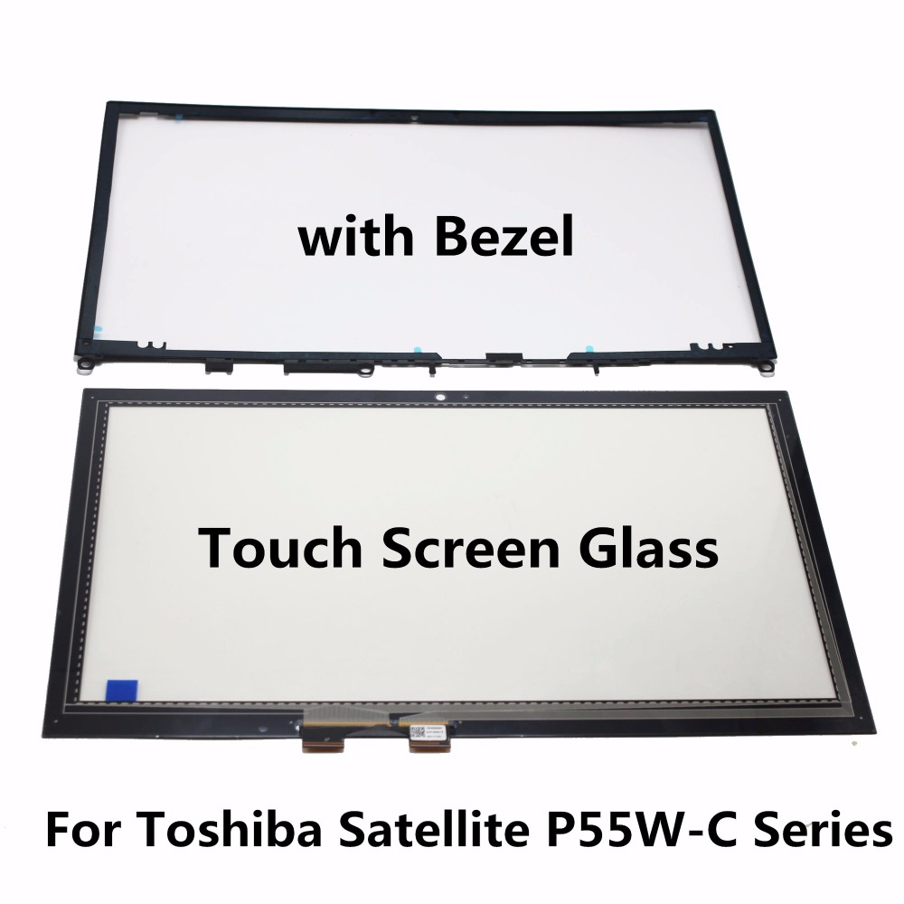 For Toshiba Satellite P50W-C P55W-C L55W-C Series P50W-C-E10 P55W-C5316 P55W-C5317 P55W-C5200D Touch Screen Digitizer with Bezel