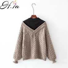 Winter Sweaters Patchwork Cashmere