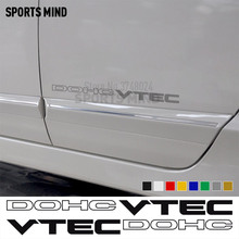 1 Pair DOHC VTEC DECAL STICKER VEICOLO GRAFICI Automobili Car Styling Per Honda Civic si Accordo JDM Accessori Esterni