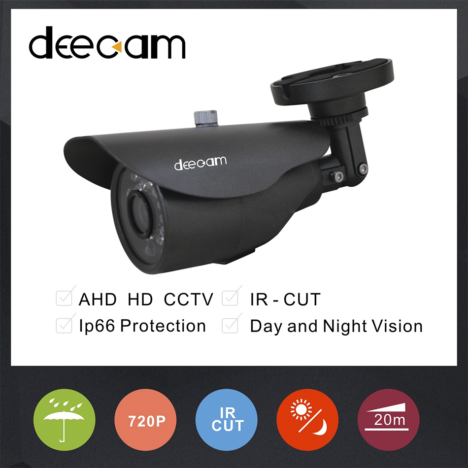 Deecam HD 720P  Camera 1/4'' CMOS 1200TVL 1.0MP AHD IR Cut CCTV Camera System Home Security Outdoor Surveillance Camera  deecam cmos 1200tvl security camera cctv camera system surveillance analog high definition ahd camera 720p camaras de seguridad