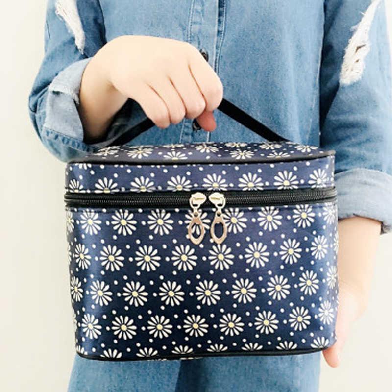 Çanta makyaj çanta düzenleyici rahat seyahat kozmetik çantası kadın fermuar makyaj sözleşmeli ve taşınabilir kılıfı
