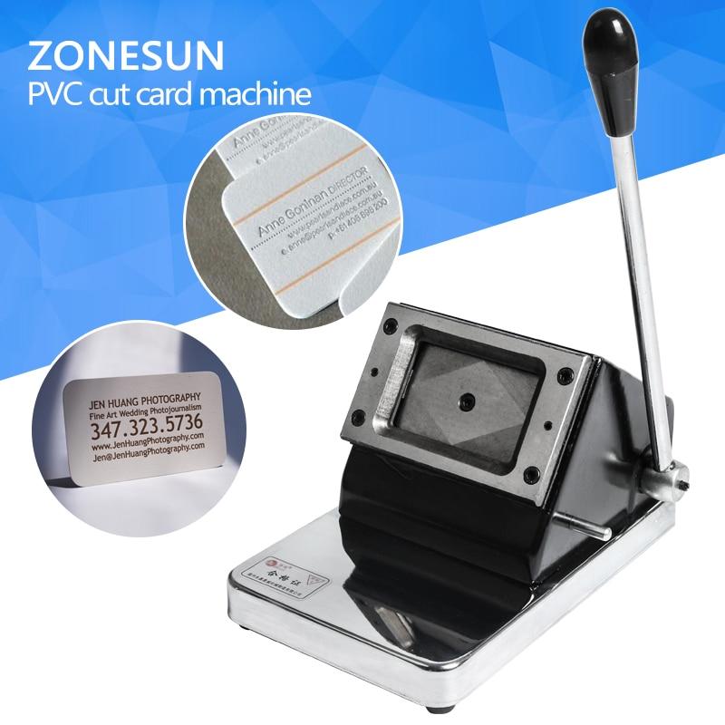 ZONESUN mini Cutter Cutting machine small type for Paper Card PVC ...