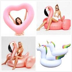 Anillo de natación gigante diamante unicornio flamenco piscina inflable flotador Cisne piña flotadores Toucan Pavo Real Juguetes De Agua boia piscina
