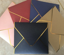 10pcs/lot Simple high-end knot wedding western Envelope European business invitation gilded edge exquisite thick envelope set
