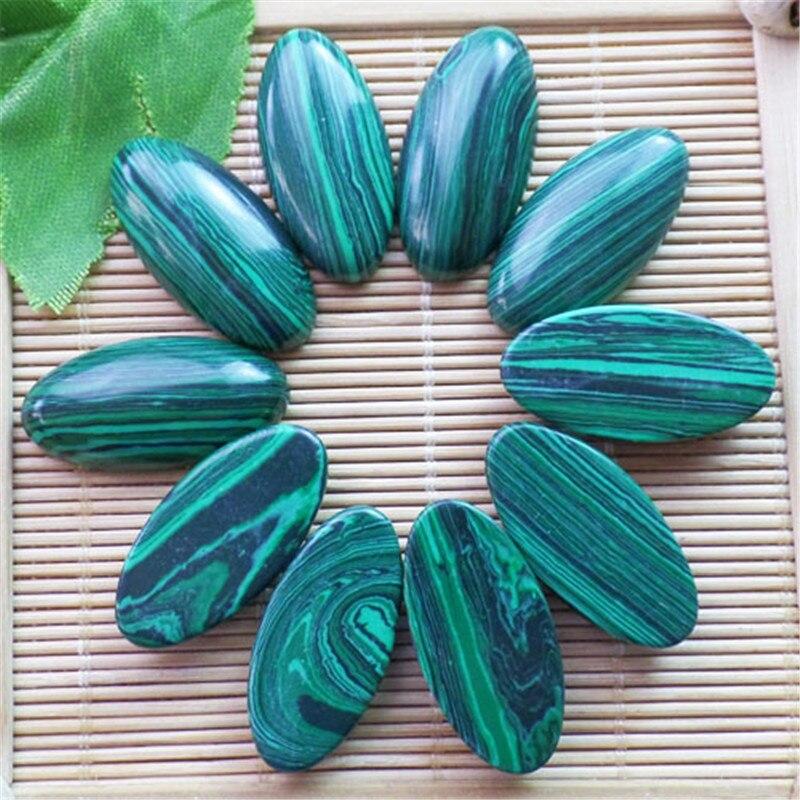(10 pieces/lot) Wholesale Man-Made Malachite CAB CABOCHON 30x15x6mm Free Shipping Fashion Jewelry ZY3387