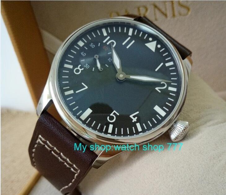 蝶バックル 2017 新ファッション 44 ミリメートルパーニスパイロット 6497 メカニカルハンド風ムーブメントメンズ腕時計卸売 xRNM11  グループ上の 腕時計 からの 機械式時計 の中 3