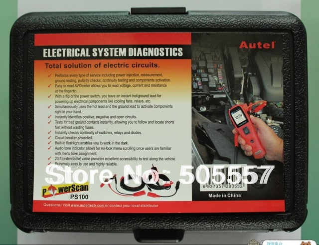 Original Autel PS100 Super Electrical System Diagnostic Tool PowerScan  Circuit Tester +Free shipping