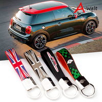 Metal And Rubber Car Key Chain Ring Remote Key Holder For Mini John Cooper Works R55