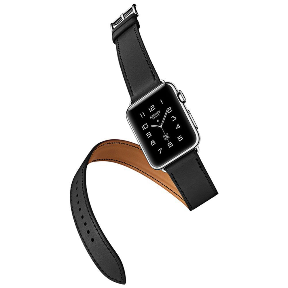 GOOSUU The 100% Long Genuine Leather Strap For Apple Watch Band Double Tour Bracelet Leather Watchband 38mm and 42mm Available new arrival long genuine apple watch band leather watchband strap double tour bracelet for apple watch 38 42mm