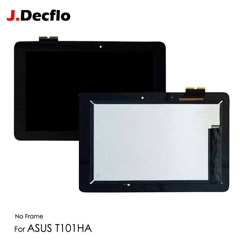 LCD Display For ASUS Transformer Book T101H T101HA Full LCD Touch Screen Digitizer No Frame Replacement Black Free Shipping black for motorola droid turbo xt1254 lcd display screen touch digitizer assembly with frame free shipping