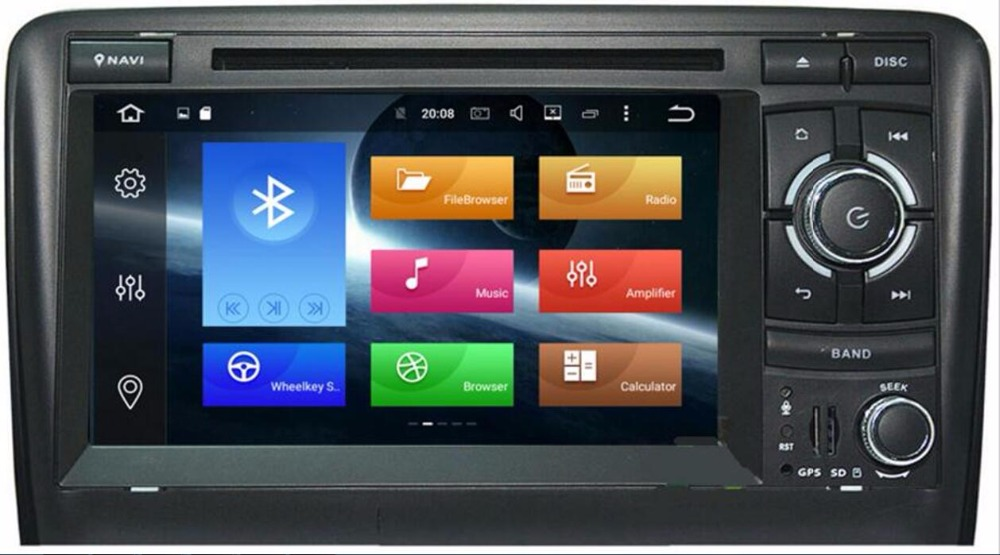 Android 8.0 4GB+32GB 7 2 DIN Car DVD Player GPS Navigation Radio Canbus USB SD for Audi A3 8P/A3 8P1 3-door Hatchback/S3 8P/RS3